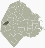 Location of Monte Castro within Buenos Aires