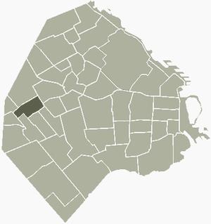 Monte Castro - Image: M Castro Buenos Aires map