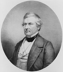 Black and white engraved portrait of Fillmore