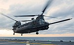 MH-47E Chinook lands on the flight deck of the USS Kearsarge.jpg
