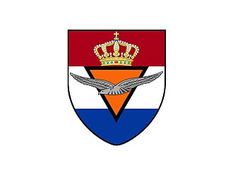 Royal Netherlands East Indies Army Air Force - Image: ML KNIL Wapenschild Shield Coat of Arms 1945 Roger Veringmeier