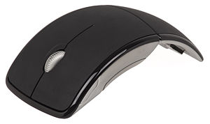English: A Microsoft Arc wireless mouse. You c...