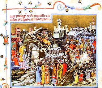 Hungarians - Hungarian Conquest of the Carpathian Basin, from the Chronicon Pictum, 1360.