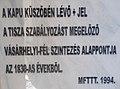 Magyarok Nagyasszonya vártemplom, a Magyar Földmérési, Térképészeti és Távérzékelési Társaság táblája, 2017 Szolnok.jpg