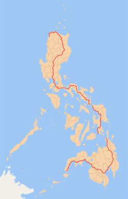 Maharlika Highway map.png