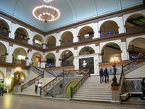 Campus of Drexel University - Interior courtyard of the Main Building.