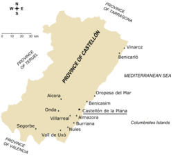 Main towns in the province of Castellón.png