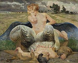 Malczewski Jacek Artysta i chimera.jpg