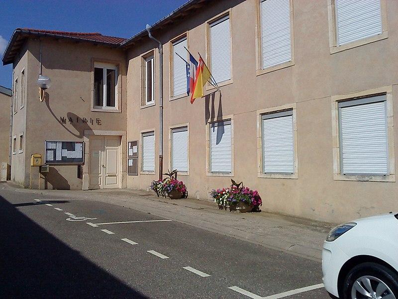 La mairie de Manoncourt-en-Vermois, commune du département de la Meurthe-et-Moselle et la région Lorraine.