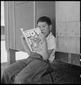 Manzanar Relocation Center, Manzanar, California. Evacuee boy at this War Relocation Authority cent . . . - NARA - 538076.tif