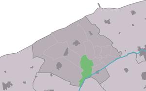 Wanswerd - Image: Map NL Ferwerderadiel Wanswert