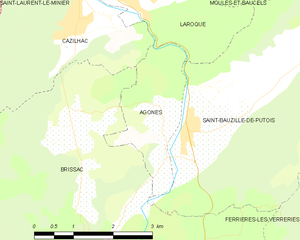 Agonès - Map