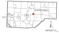 Location of Blooming Valley in Crawford County