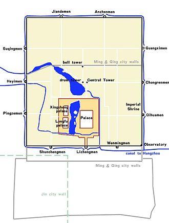 Khanbaliq - Image: Map of Cambaluk