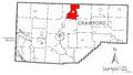 Map of Cambridge Township, Crawford County, Pennsylvania Highlighted.png