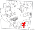 Map of Franklin County Ohio Highlighting Groveport City.png