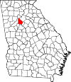 Map of Georgia highlighting DeKalb County.svg