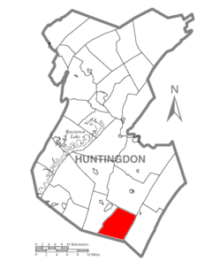 Map of Huntingdon County, Pennsylvania Highlighting Springfield Township.PNG
