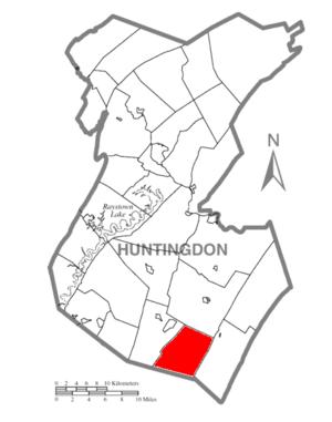 Springfield Township, Huntingdon County, Pennsylvania - Image: Map of Huntingdon County, Pennsylvania Highlighting Springfield Township
