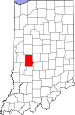 Map of Indiana highlighting Putnam County.svg