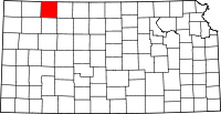 Map of Kansas highlighting Decatur County