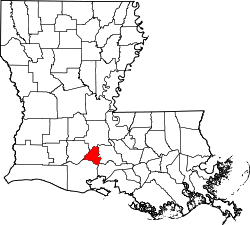 Map of Louisiana highlighting Lafayette Parish.svg
