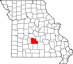 Map of Missouri highlighting Laclede County.svg