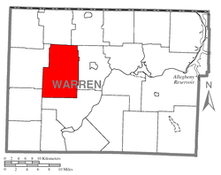 Location of Pittsfield Township in Warren County