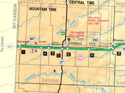 KDOT map of Sherman County (legend)