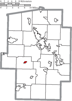 Location of Stone Creek in Tuscarawas County