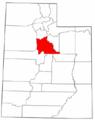 Map of Utah highlighting Utah County.png