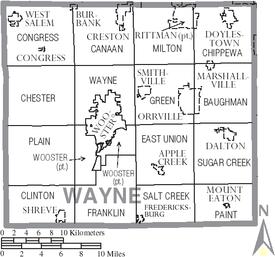 Wayne County Ohio Map Wayne County, Ohio   Wikipedia