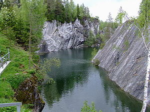 Ruskeala - An inundated quarry