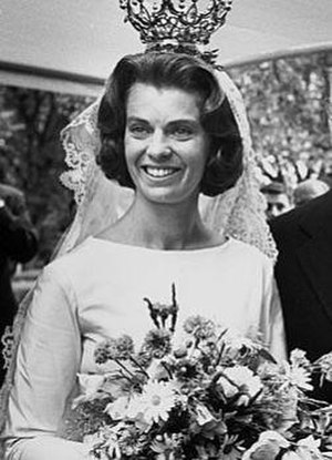 Princess Margaretha, Mrs. Ambler - Margaretha at her wedding in 1964.
