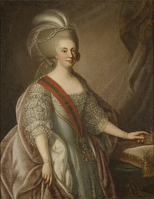Maria I of Portugal - Portrait attributed to Giuseppe Troni, 1783