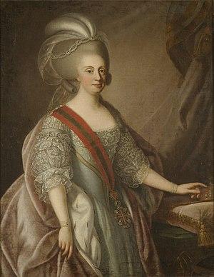 Maria I of Portugal - Portrait attributed to Giuseppe Troni, 1783