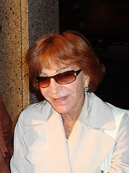 """Maria Pacôme en 2008 avant une représentation de """"la maison du lac"""" à Bruxelles.jpg"""