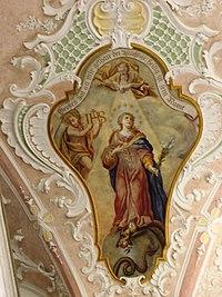 Fresco from a Bavarian church,Germany.