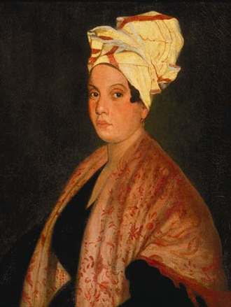 Marie Laveau - Portrait by Frank Schneider, based on a painting by George Catlin (Louisiana State Museum)