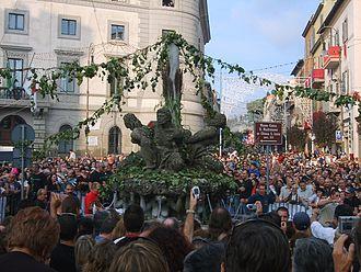 Marino, Lazio - Fountains giving wine.