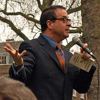 Mark Thomas - Thomas at the UK Uncut stand-up show in March 2011