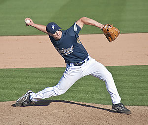 Mark Worrell pitcher for the San Diego Padres ...