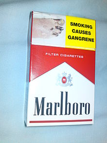 The Front Of A 20 Pack Marlboro Red Cigarettes Sold In New Zealand