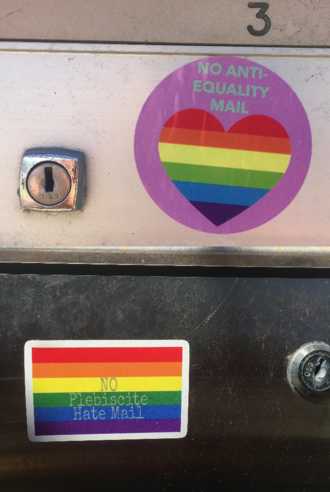 Australian Marriage Law Postal Survey - Image: Marriage Equality stickers