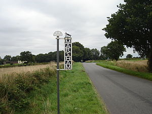 Marsham, Norfolk - Image: Marsham Village Sign 2