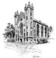 MasonicTemple ca1875 TemplePlace Boston byMalcolmFraser1914.png