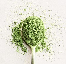 A scoop of matcha tea