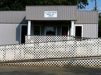 Mauk, Georgia - Image: Mauk, GA Post Office (31058)