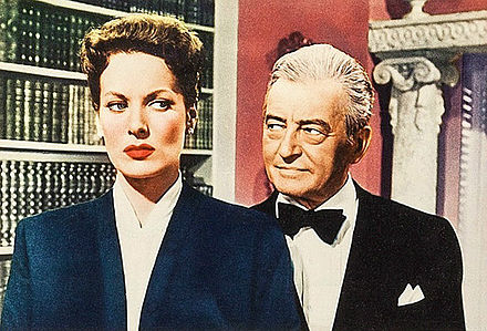 O'Hara and Claude Rains in Lisbon (1956) Maureen O'Hara Claude Rains from Lisbon lobby card.jpg