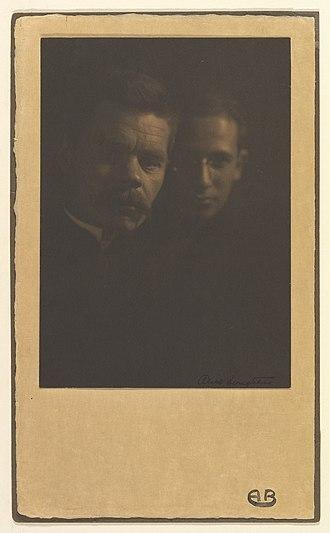 Zinovy Peshkov - Maxim Gorky and Zena Peschkoff,(sic) His Adopted Son. Portrait photograph circa 1910, by Alice Boughton.